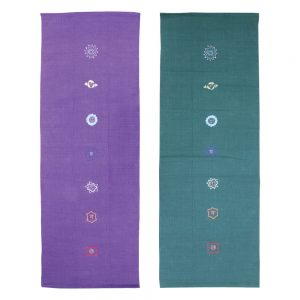 100% Cotton Yoga Rugs in Purple or Forest Green