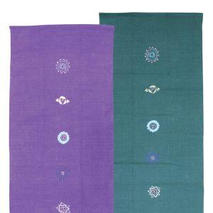 100% Cotton Embroidered with 7 Chakras Yoga Rug
