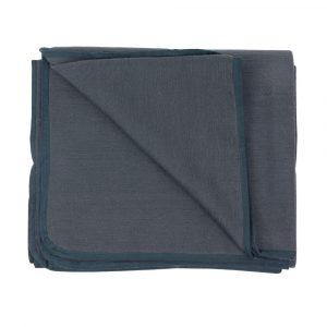 Hand Woven Seamless Yoga Blanket in Dark Grey