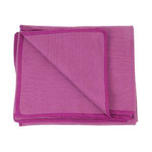 Aubergine Hand Woven Seamless Yoga Blanket