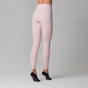 high waisted yoga pants - bashful