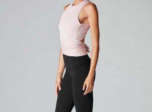 Ballerina style wrap around top