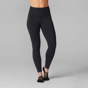 High Waisted Yoga Pants – Ebony