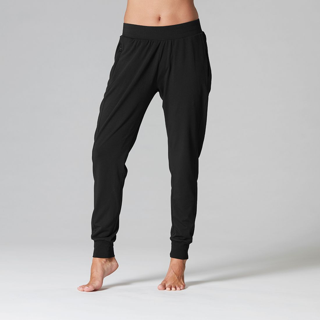 Ultra soft joggers in Ebony front view