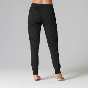 Ultra soft joggers in Ebony back view
