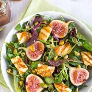 Fig and Halloumi salad
