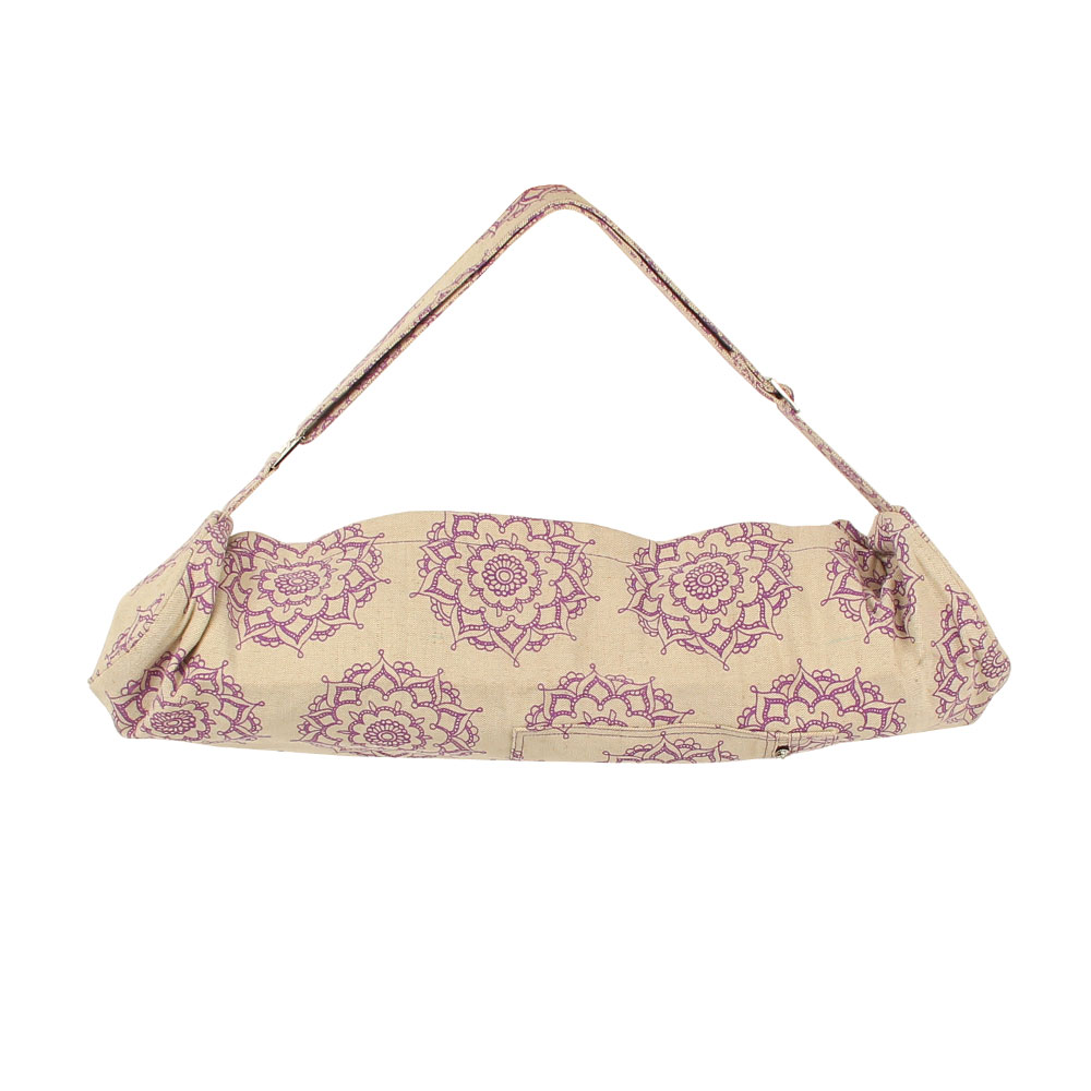 Mandala patterned yoga bag
