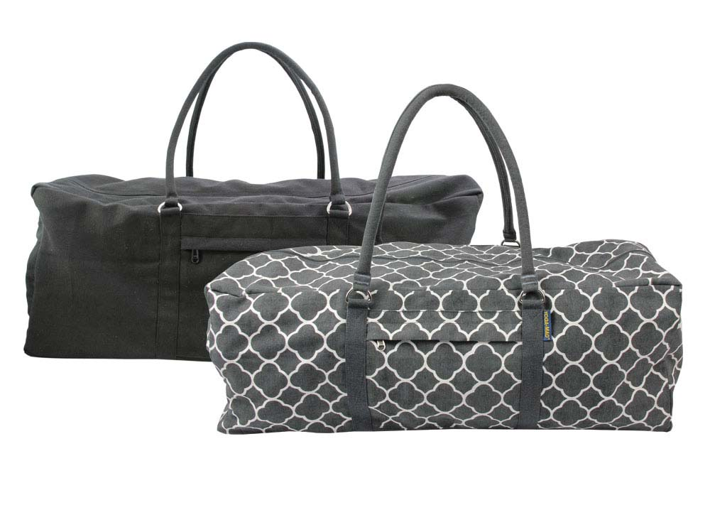 Yog Kit Bags available in Black or Grey
