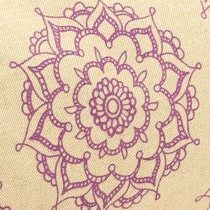 mandala pattern on buckwheat yoga bolster